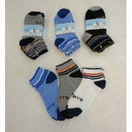 720 Bulk 3pr Boy's Anklet Socks 6-8 [sports]