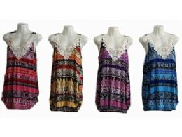 120 Bulk Womens Summer Sleeveless Casual Tank Tops Basic Lace