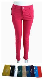 48 Bulk Womens Ease In To Comfort Skinny Pants With Zipper