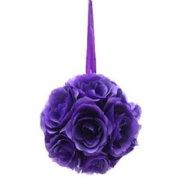 12 Bulk Ten Inch Pom Flower Silk Purple