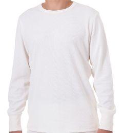 24 Bulk Men's White Heavyweight Thermal Top, Size Large