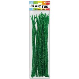 96 Bulk Twelve Inch Tinsel Stem Green