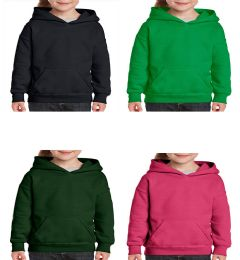 24 Bulk Youth Gildan Irregular Assorted Color Hooded Pullover, Size Small