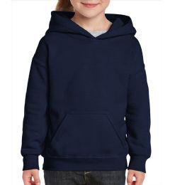 24 Bulk Youth Gildan Irregular Navy Color Hooded Pullover, Size Medium