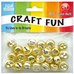 96 Bulk Bell Bead Gold
