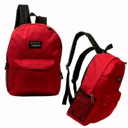 "24 Bulk 17"" Classic Red Backpack"