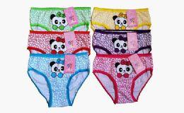 72 Bulk Girls Cotton Panty Assorted Colors & Sizes