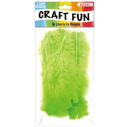120 Bulk Diy Feather Lime Green