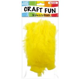 120 Bulk Diy Feather Yellow