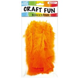 120 Bulk Diy Feather Orange