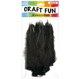 120 Bulk Diy Feather Black