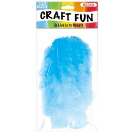 120 Bulk Diy Feather Baby Blue