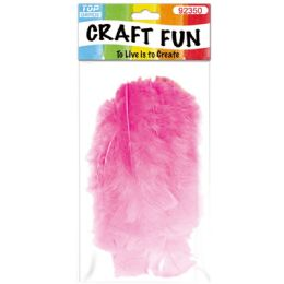 120 Bulk Diy Feather Baby Pink