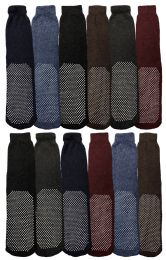 180 Bulk Yacht & Smith Mens Thermal Non Slip Tube Socks, Gripper Bottom Socks
