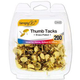 96 Bulk Gold Thumb Tack