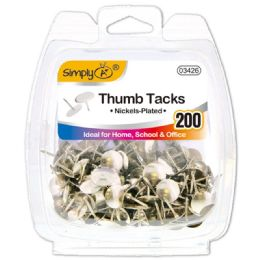 96 Bulk Silver Thumb Tack 20 Count