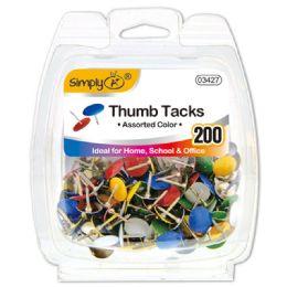 96 Bulk Color Thumb Tack 200 Count