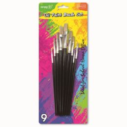 96 Bulk Nine Piece Paint Brush Set