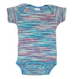 24 Bulk Infant Assorted Stripes Onesie, Size L