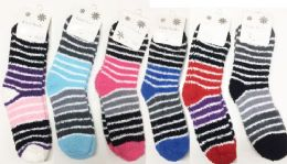 180 Bulk Women Fashion Print Pattern Fuzzy Socks Size 9-11