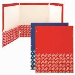 120 Bulk Three Pocket Paper Folder Assorted