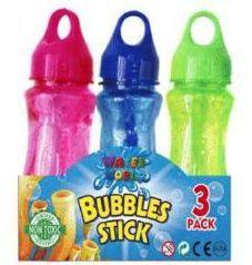 24 Bulk 3 Pack Bubble Sticks