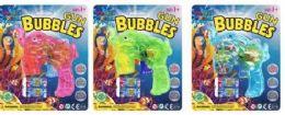 24 Bulk Fish Bubble Gun With 2 Refills & Lights