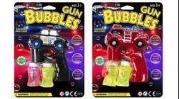 24 Bulk Musical Light Up Bubble Gun With 2 Refills