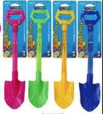 24 Bulk 21.25 Inch Colorful Shovel Bubbles Sticks