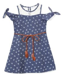 6 Bulk Girls' Navy Jean Dress In Size 4-6x