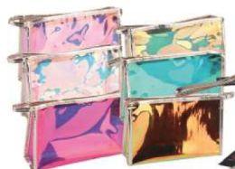 24 Bulk Transparent Hologram Cosmetic Bag