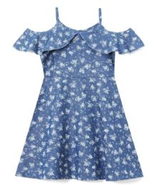 6 Bulk Girls' Denim Dress In Size 7-14