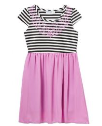 6 Bulk Girls' Lavender Chiffon Dress In Size 4-6x