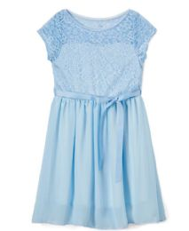 6 Bulk Girls' Sky Chiffon Dress In Size 7-14