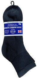24 Bulk Yacht & Smith Men's King Size Loose Fit NoN-Binding Cotton Diabetic Ankle Socks Black Size 13-16