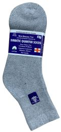 60 Bulk Yacht & Smith Women's Diabetic Cotton Ankle Socks Soft NoN-Binding Comfort Socks Size 9-11 Gray Bulk Pack