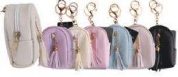 24 Bulk Leather Tassel Coin Bag