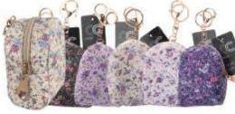 24 Bulk Floral Print Coin Bag