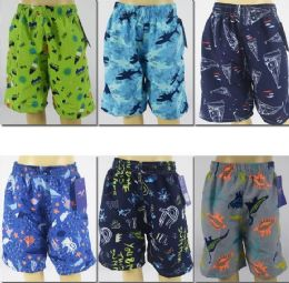 72 Bulk Boy's Assorted Printed Bathing Suit