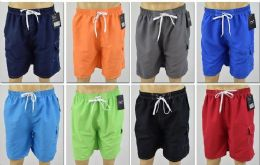 72 Bulk Men's Assorted Color Bathing Suit, Size S-xl