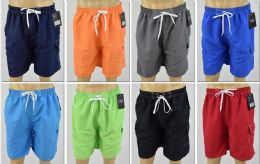 72 Bulk Men's Assorted Color Bathing Suit, Size M-2xl