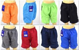 72 Bulk Boy's Assorted Color Bathing Suit