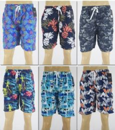 72 Bulk Men's Assorted Print Bathing Suit