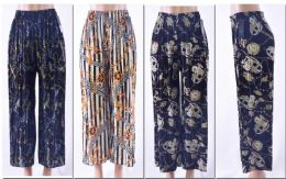 72 Bulk Women's Pleated Palazzo Pants W/ Belt
