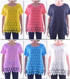 72 Bulk Women's Butterfly Crochet Top
