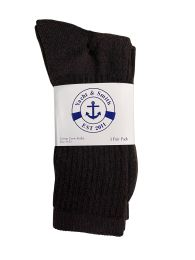 36 Bulk Yacht & Smith Women's Sports Crew Socks Size 9-11 Brown Bulk Pack