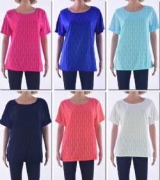 72 Bulk Women's Short Sleeve Crochet Top