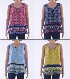 72 Bulk Women's Printed Tank Top