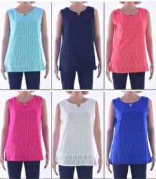 72 Bulk Women's Crochet Tank Top