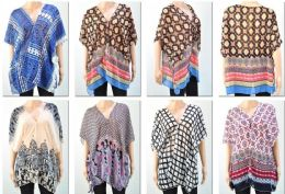 72 Bulk Women's Assorted Printed Shawls